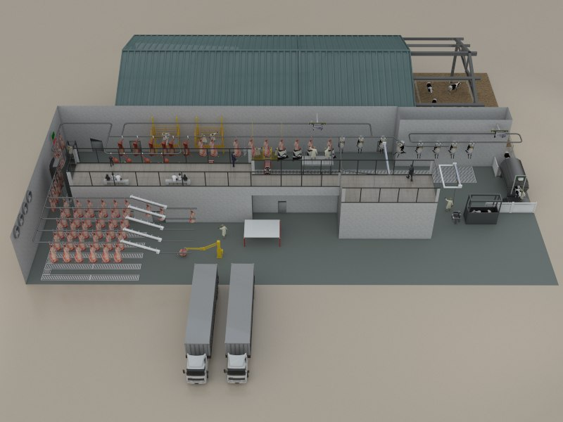 render slaughterhouse model