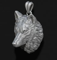 wolf head necklace model