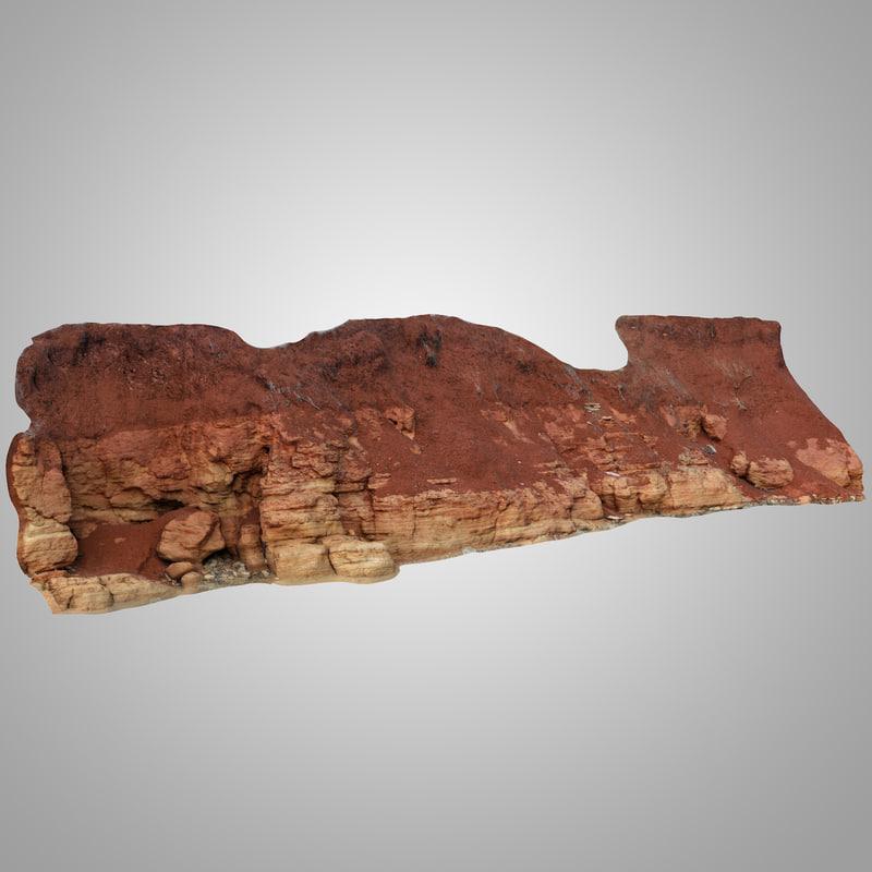 3D clif clay model