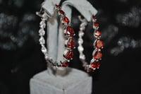 3D gems earrings