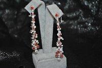 3D model earring gem stones