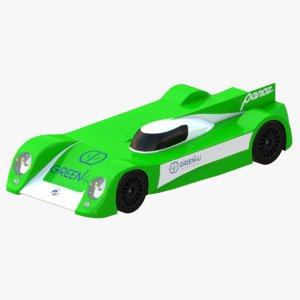 green4u panoz racing gt-ev 3D