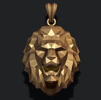 3D model lion necklace