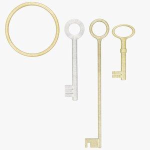 keys ring 3D model