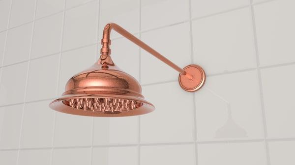 3D model retro shower head