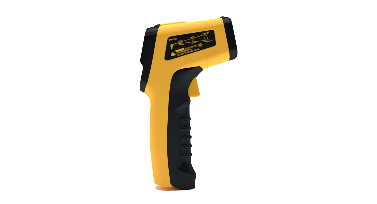 infrared thermometer 3D