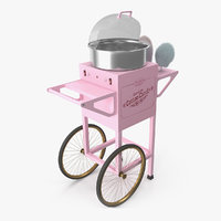 vintage cotton candy machine 3D