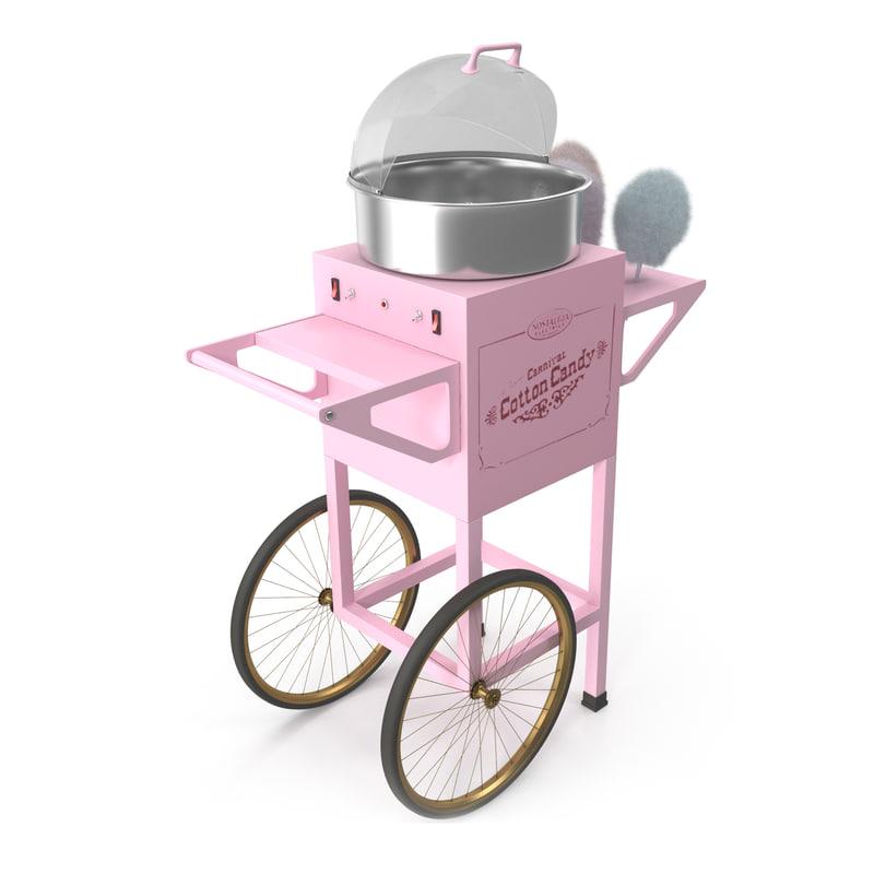 Vintage Cotton Candy Machine 3D