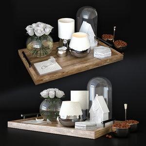 cofe table decore set 3D model