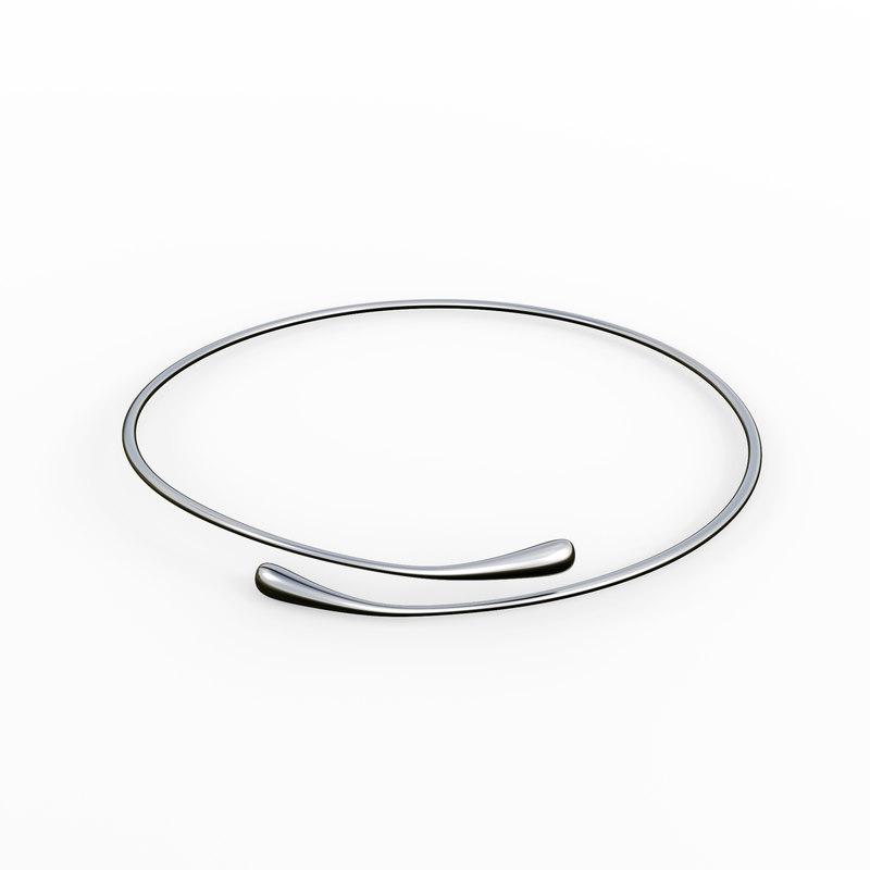 silver bracelet waterdrop design model