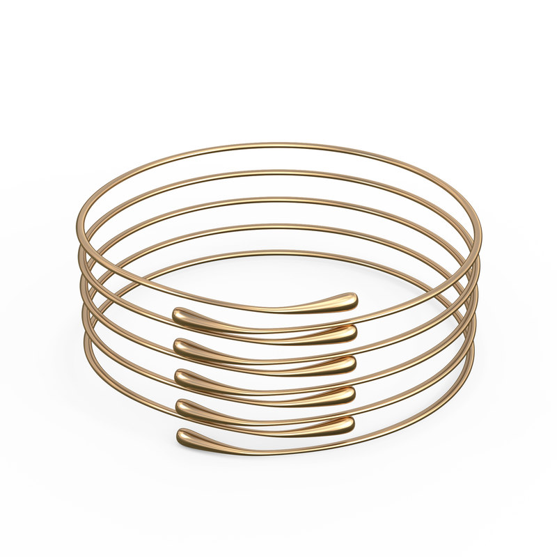 3D gold bracelet waterdrop design