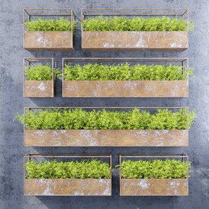 3D rectangular shelves