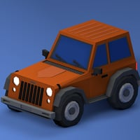 3D jeep model