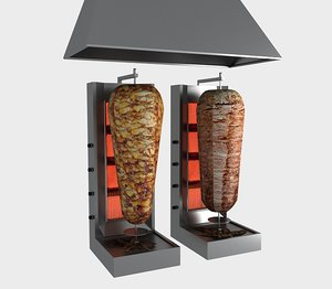 3D turkish doner machine