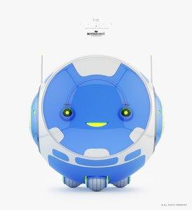 3D baby monitor model