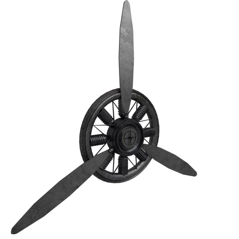 3D 2 propeller plane