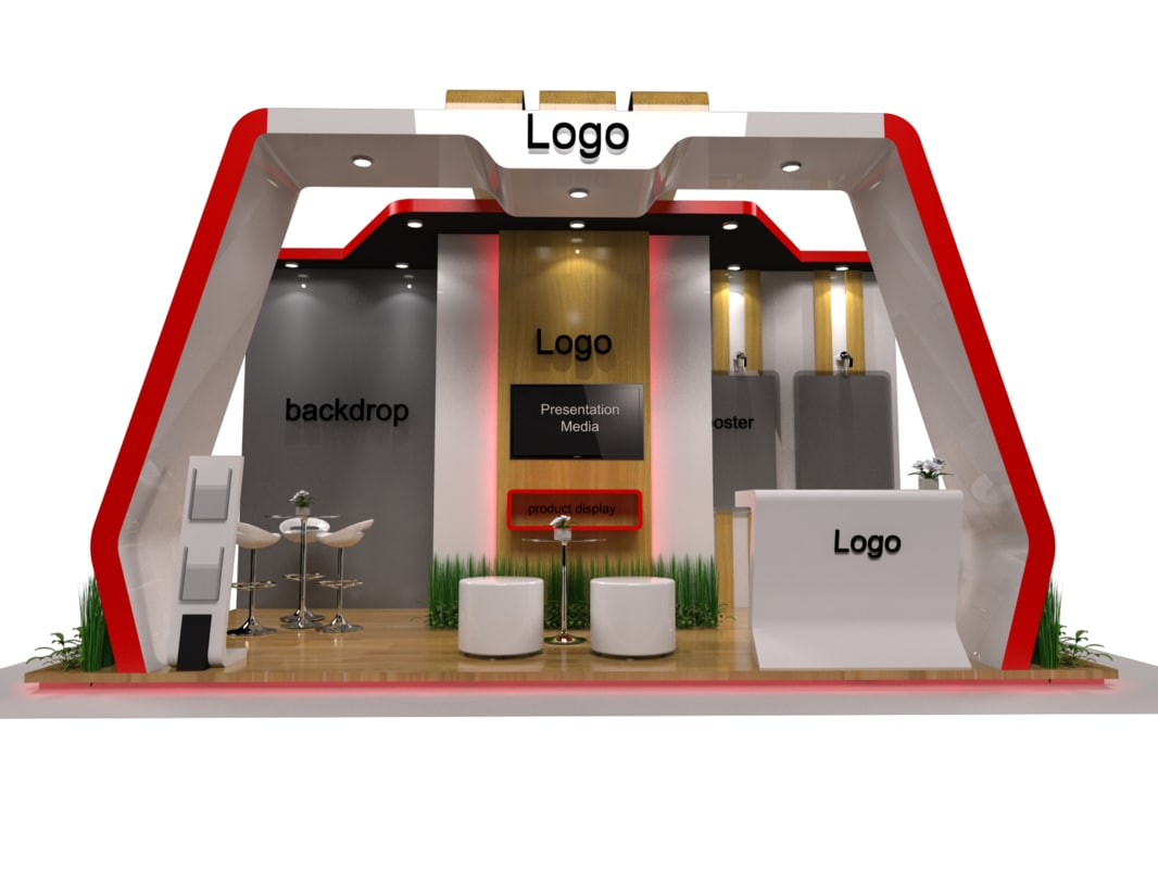 3x6 exhibition stand fabrication 3D