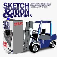 sketch toon 3D model