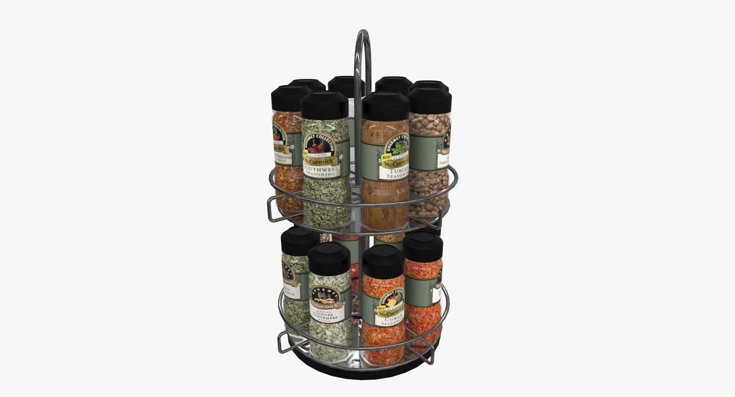 3D spices rack model