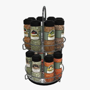 3D spices rack model
