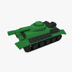 3D designs combat battle tank