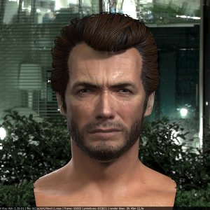 clint eastwood head v2 3D