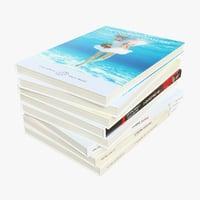3D model cr01 sofa books 01