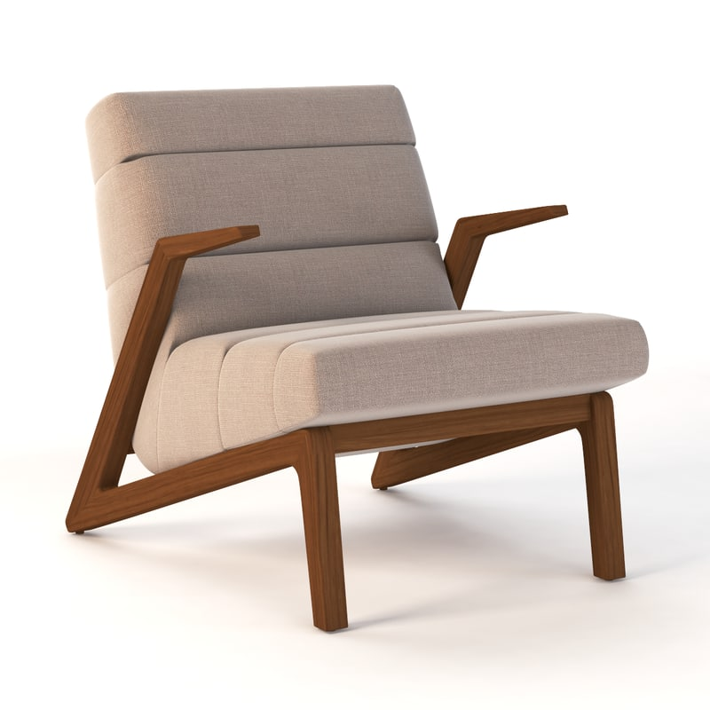 3D realistic photoreal chair