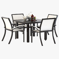 Photorealistic Bazza Dining Chair & Table Set