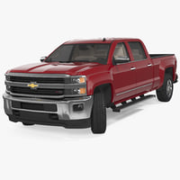 chevrolet silverado 2015 rigged 3D model