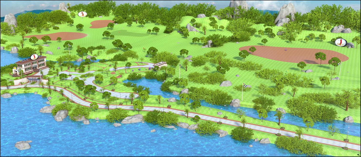 3D golf club gol model