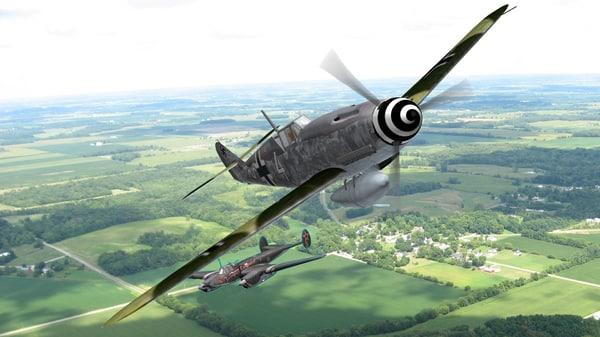 messerschmitt bf 109 fighter aircraft 3D
