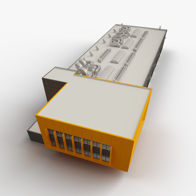 industrial architecture 3D model