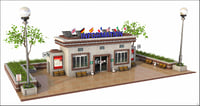 3D info information tourist model