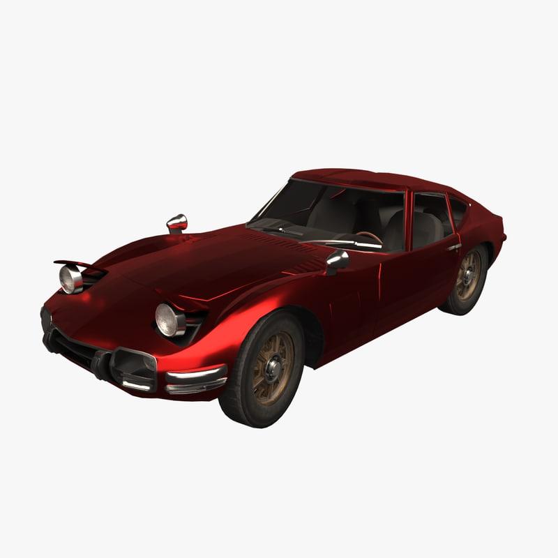 toyota 2000gt 1969 3D model