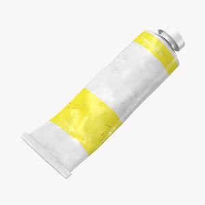 3D used oil paint light model