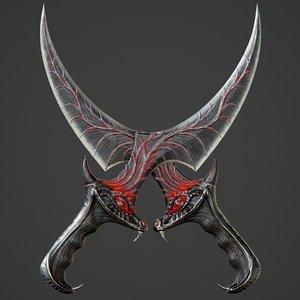 ready dragon dagger pbr 3D model
