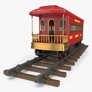 train toy observation car 3D model