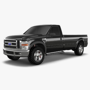 pickup f-250 trucks 3D model