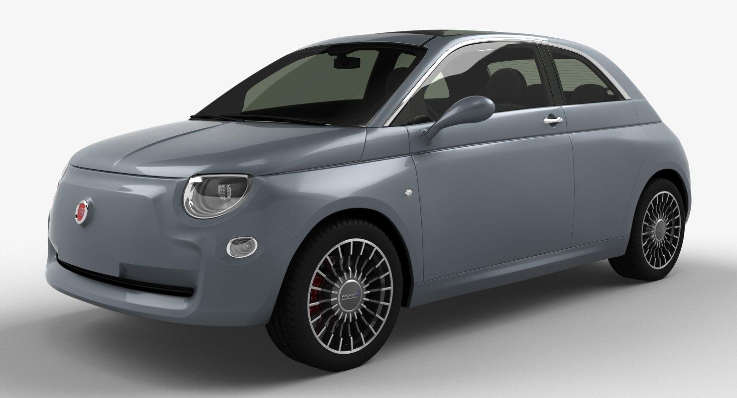 Fiat 500 Electric Concept 2018 3d Model Turbosquid 1229766