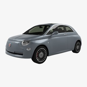 fiat 500 electric-concept 2018 3D model