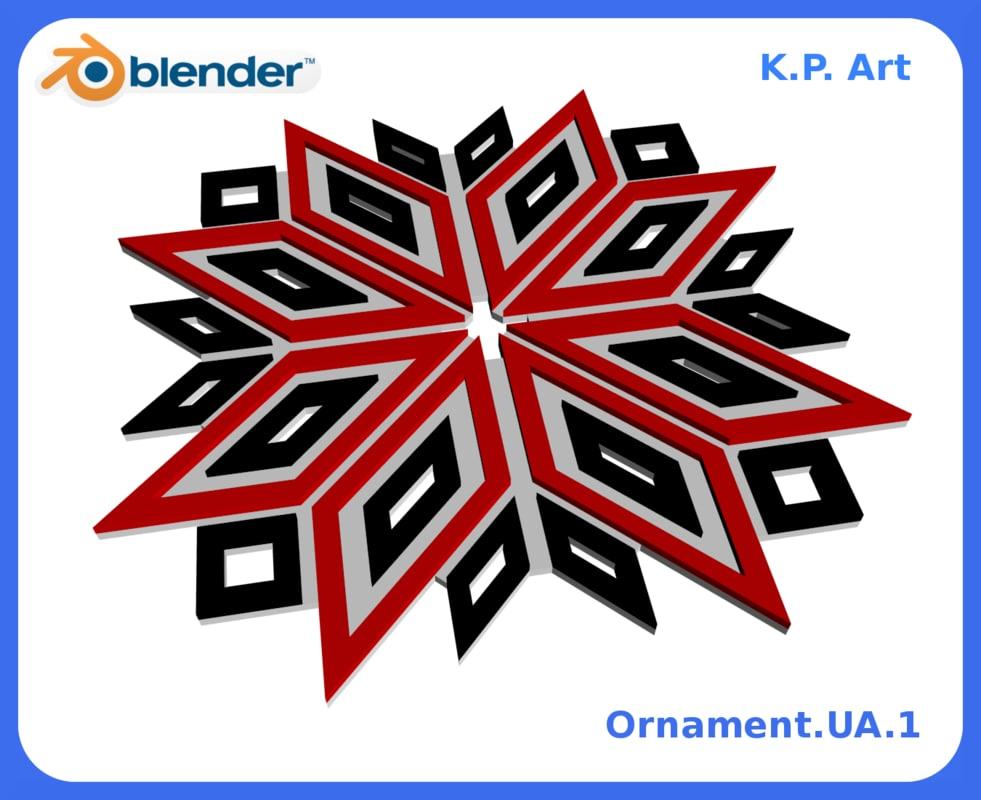 ornament ua 1 3D model
