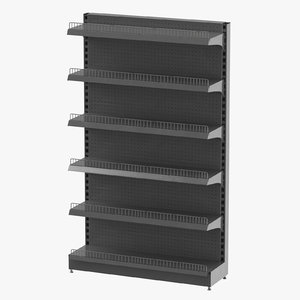 3D retail shelf 04 model