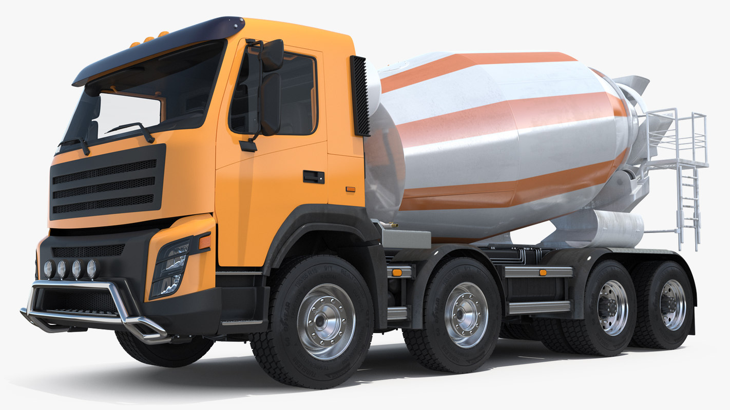 cement mixer vehicle 3D