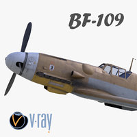 bf-109 german fighter modelled model