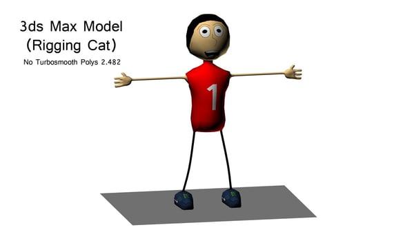 rigging cat 3D model