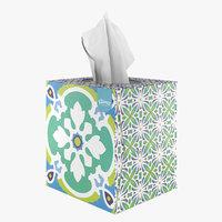 3D kleenex cube tissue model