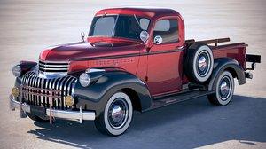 3D chevrolet pickup 1946