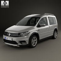 volkswagen caddy alltrack 3D model