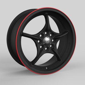mugen weapon rnr wheel 3D model